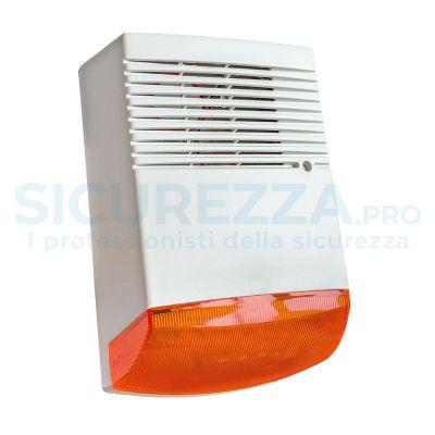 Sirena senza fili con lampeggiante + ripetitore visivo wireless